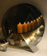 Size 4: Infinity Candle/Brushed stainless steel stand